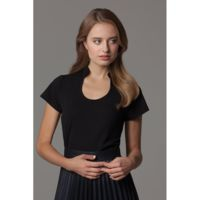 Women's corporate top keyhole neck Thumbnail
