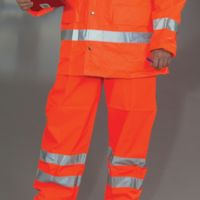 Hi-Vis Waterproof Contractors Trousers Thumbnail