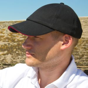 Low Profile Heavy Brushed Cotton Cap With Sandwich Peak Thumbnail