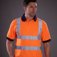 Hi-vis short sleeve polo (HVJ210) Thumbnail