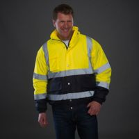 Hi-vis two-tone bomber jacket (HVP218) Thumbnail