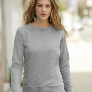 Anvil women's mid-scoop French terry sweatshirt Thumbnail
